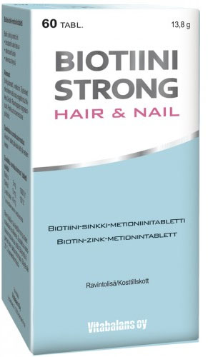 Biotiini Strong Hair & Nail (60 kapselia)