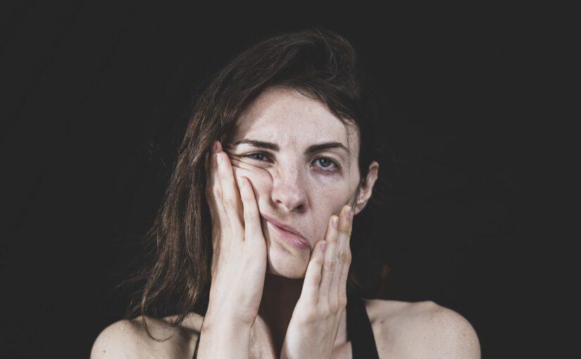 Stressaantunut nainen